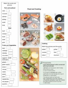 Interactive worksheet Food and Cooking