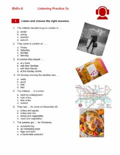 Interactive worksheet RbEn 6. Listening Practice 3c Trip to London at Christmas Time