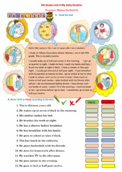 Interactive worksheet 5.4. My Daily Routine-9