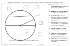 Interactive worksheet Circunferencia
