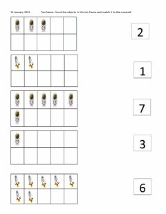 Interactive worksheet Count and Match numeral