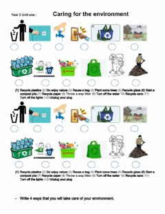 Interactive worksheet Year 2 unit one