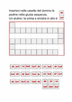 Interactive worksheet Domino tabelline