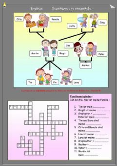 Interactive worksheet Familie 5