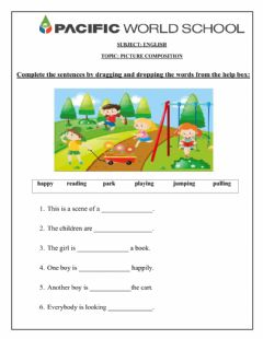 Interactive worksheet Picture Composition-1