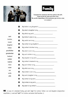 Interactive worksheet Family vocabulary
