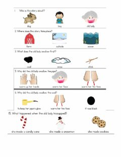 Interactive worksheet Cold Lady Snow