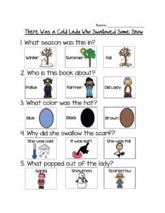Interactive worksheet Cold Lady Who Swallowed Some Snow