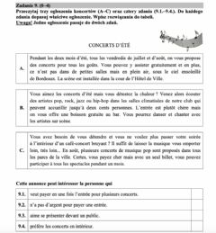 Interactive worksheet Texte