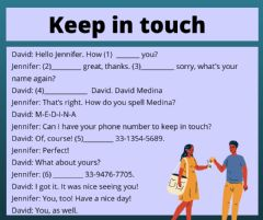 Ficha interactiva Keep in touch