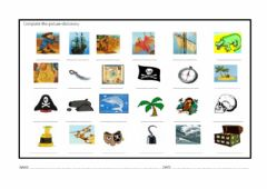 Interactive worksheet Pirate vocabulary picture dictionary