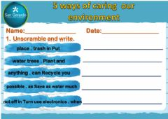 Ficha interactiva 5 ways of caring our environment