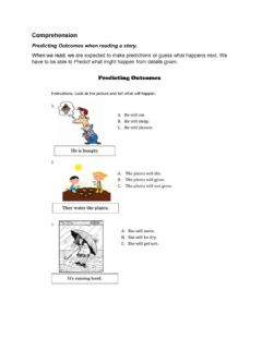 Interactive worksheet Predicting outcomes
