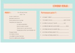 Interactive worksheet Pengertian Puisi