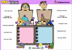 Interactive worksheet Toy Box (Drag and drop)