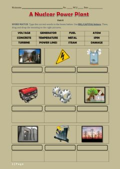 Interactive worksheet NUCLEAR POWER PLANT - public