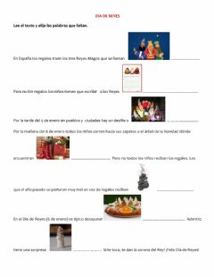 Interactive worksheet Día de Reyes