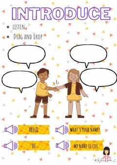 Interactive worksheet Greetings and introduce