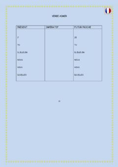 Interactive worksheet Verbe aimer