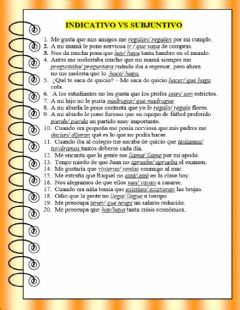 Interactive worksheet ¿Indicativo o subjuntivo?