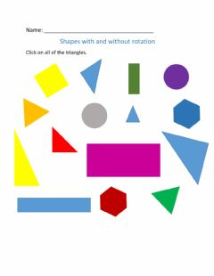 Interactive worksheet Shapes with rotation