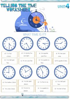 Ficha interactiva 5.4 Telling the time