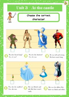 Interactive worksheet 5th grade. U3 At the castle. Sheet 8