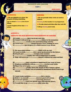 Interactive worksheet Infinitive and gerunds