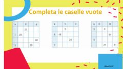 Interactive worksheet Completa le caselle