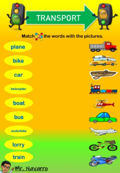 Interactive worksheet Transport (Match the words with the pictures)