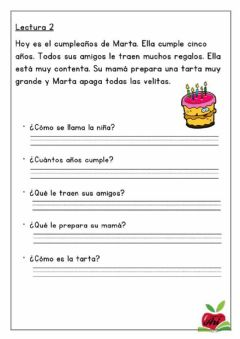 Interactive worksheet Lectura 2