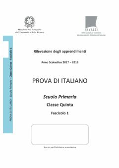 Interactive worksheet Invalsi italiano 2017-18 5-