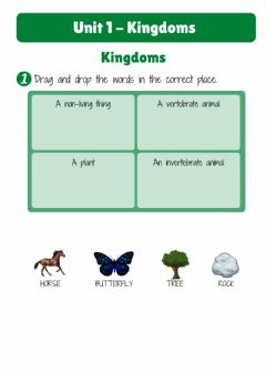 Interactive worksheet Unit1. KINGDOMS