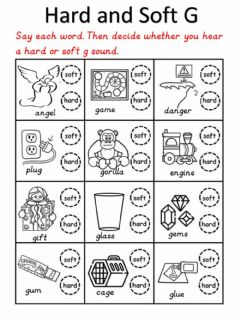 Interactive worksheet Hard and Soft G
