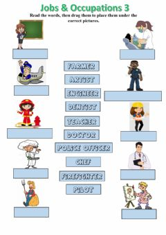 Interactive worksheet Jobs and occupations 3