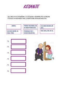 Interactive worksheet Kesanje