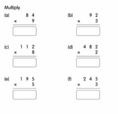 Ficha interactiva Multiplication with Regrouping