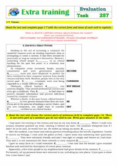 Interactive worksheet Extra Training 257