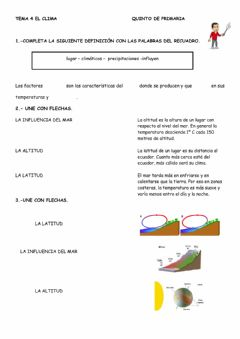 Interactive worksheet Ficha 2: El clima
