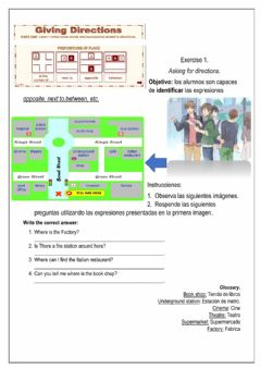 Interactive worksheet Asking about directions