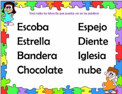 Interactive worksheet La letra Ee