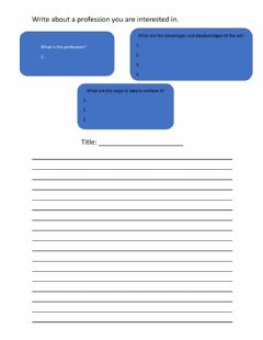 Interactive worksheet Career:10A