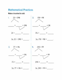 Interactive worksheet Make a hundred to add