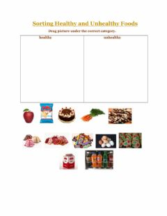 Ficha interactiva Sorting healthy and unhealthy foods