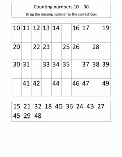 Interactive worksheet Counting 10 - 49
