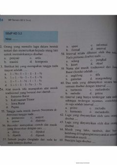 Interactive worksheet Latihan sbdp tema 6 sub 1