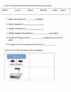 Interactive worksheet Weight Low group