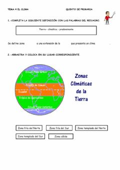 Interactive worksheet Ficha 3: El clima