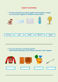 Interactive worksheet Oggetti e Materiali