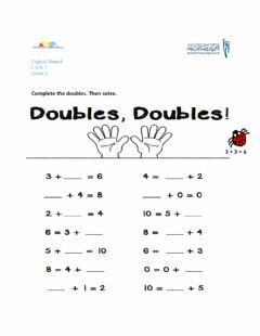 Interactive worksheet Doubles